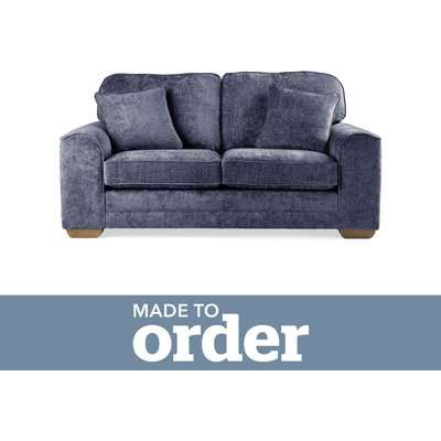 Morello 2 Seater Sofa Luxury Chenille Premium Chenille Navy
