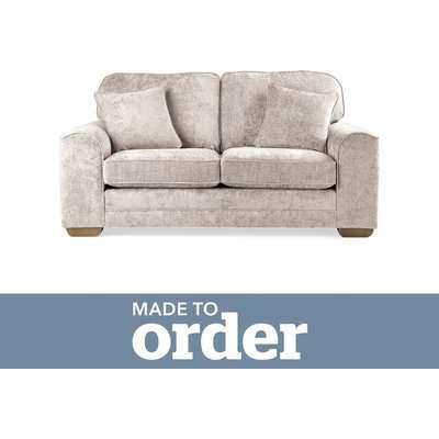 Morello 2 Seater Sofa Luxury Chenille Premium Chenille Sand