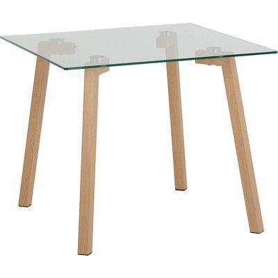 Morton Oak Effect and Glass Coffee Table Natural