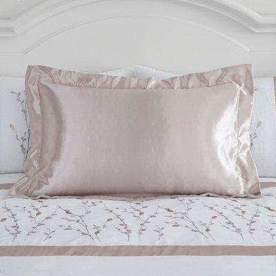 Nancy Pink Satin Oxford Pillowcase Pink