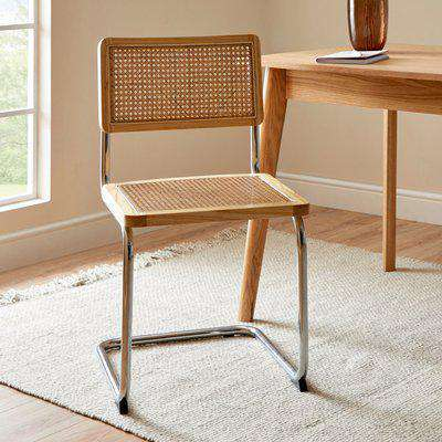 Naya Cane Canteliver Dining Chair Natural