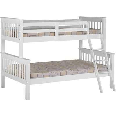 Neptune White Triple Sleeper Bunk Bed White