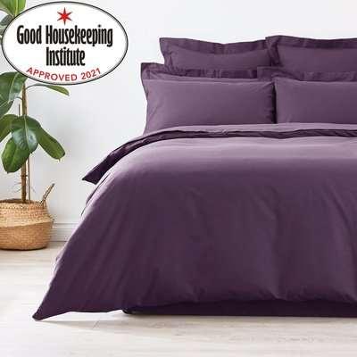 Non Iron Plain Dye Blackcurrant Valance Purple