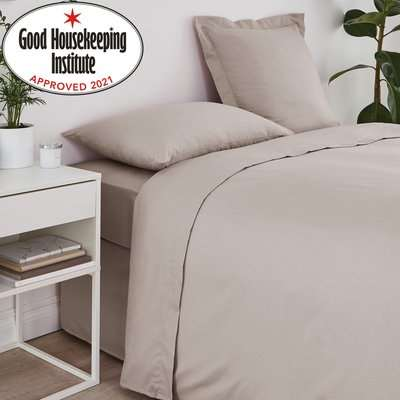 Non Iron Plain Dye Natural Bolster Pillowcase Natural