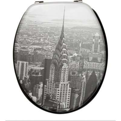 NYC Toilet Seat Grey and Black