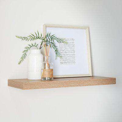 Oak Floating Shelf Oak (Brown)