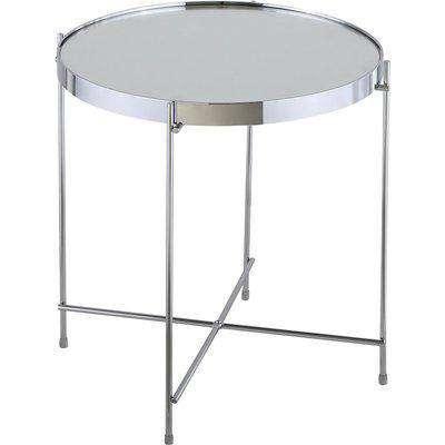 Oakland Circular Chrome Coffee Table Silver