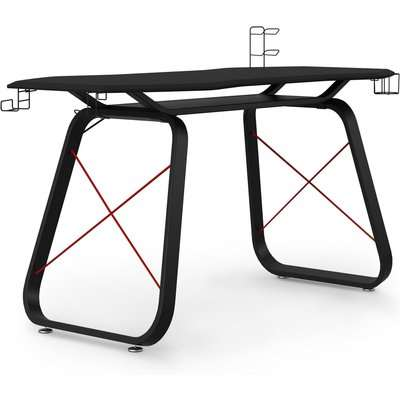 Oblivion Gaming Desk Black/Red