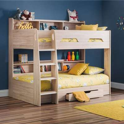 Orion Single Oak Bunk Bed White