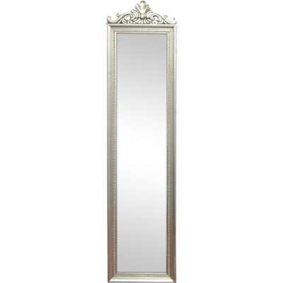 Ornate Cheval Full Length Mirror Silver