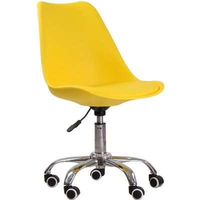 Orsen Swivel Office Chair Yellow