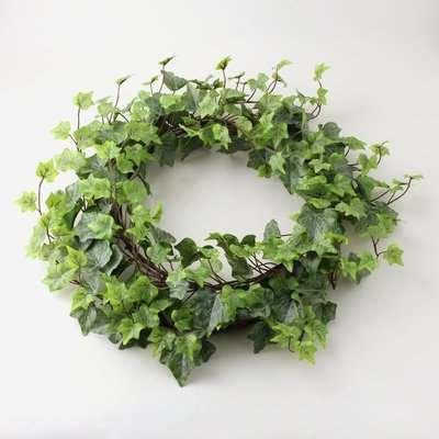Outdoor Ivy Wreath Weather Resistant 50cm Green