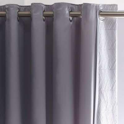 Owen Grey Thermal Eyelet Curtains Grey