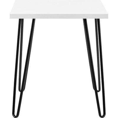 Owen Retro Side Table White