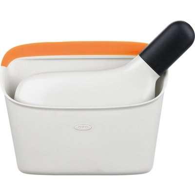 OXO Saffron Compact Dustpan and Brush Saffron