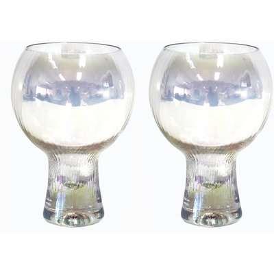 Set of 2 Optic Lustre Gin Glasses Clear