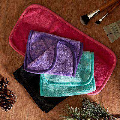 Pack of 4 Erase Your Face Eco Makeup Removing Cloths Blue/Pink/Purple