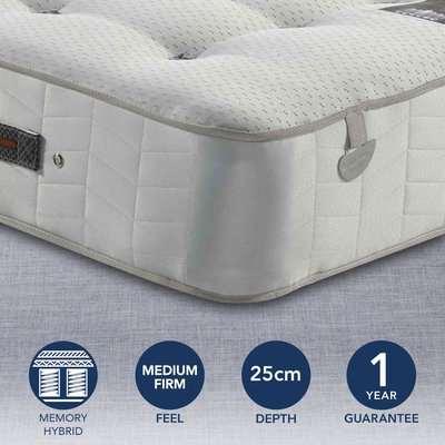 Pocketo Medium Firm 1000 Cool Blue Memory Foam Mattress White
