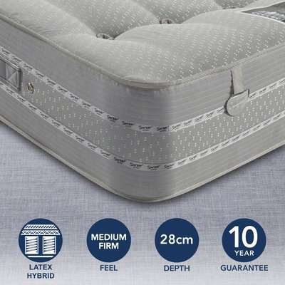 Pocketo Medium Firm 1500 Latex Mattress Grey