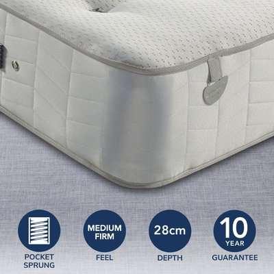 Pocketo Medium Firm 1000 Mattress White