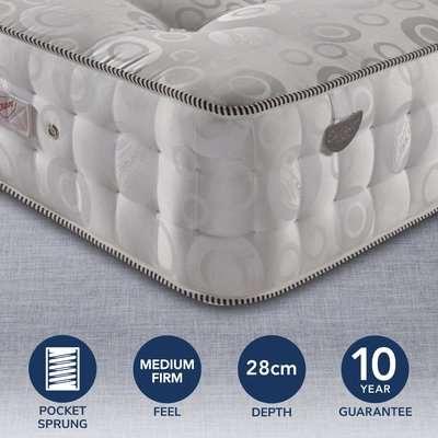 Pocketo Medium Firm 3000 Pocket Sprung Mattress Grey