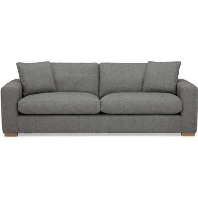 Porto Fabric 4 Seater Sofa - Dark Grey Dark Grey