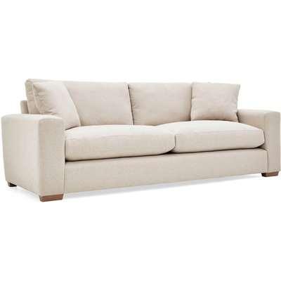 Porto Fabric 4 Seater Sofa Beige