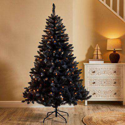 6ft Navy Pre-Lit LED Christmas Tree Navy Blue