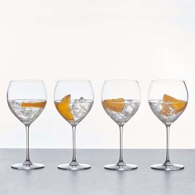 Set of 4 Pure Gin Glasses Clear