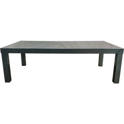 Puro High Gloss Wooden Charcoal Coffee Table Grey