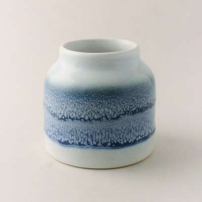 Reactive Blue Glaze Bamboo and Amber Scented Candle Blue