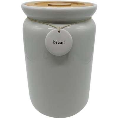 Grey Hang Tag Bread Bin Grey