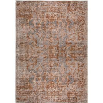 Reign Rust Traditional Rug Brown