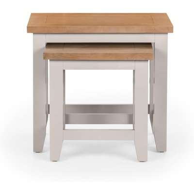 Richmond Nest of 2 Tables - Grey Grey and Brown