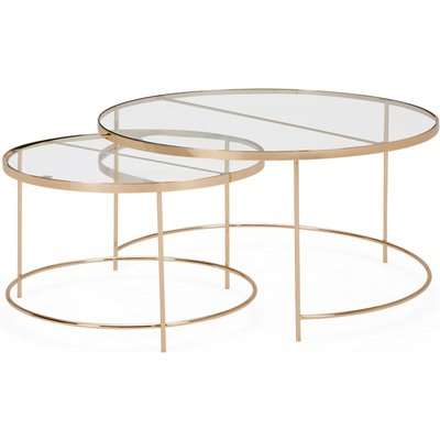 Ritz Glass Set of 2 Coffee Tables Clear