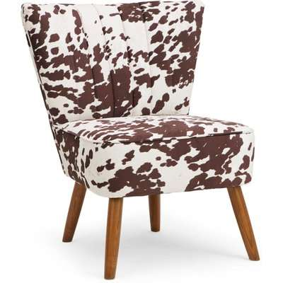 Rocco Cow Print Cocktail Chair Natural