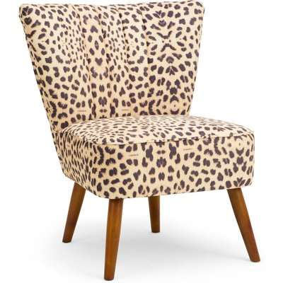 Rocco Leopard Print Cocktail Chair Natural