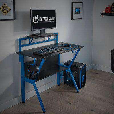 Rogue Blue Gaming Desk Blue/Black