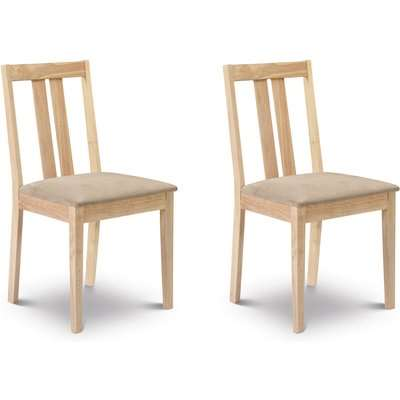 Rufford Set of 2 Dining Chairs Brown
