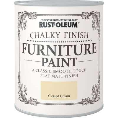 Rust-Oleum Clotted Cream Matt Furniture Paint Clotted Cream