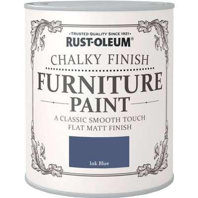 Rust-Oleum Ink Blue Matt Furniture Paint Ink Blue