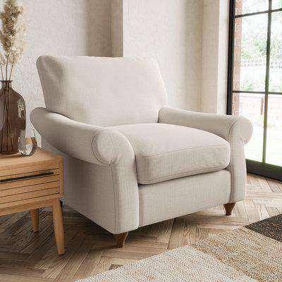 Salisbury Slub Cotton Armchair Slub Cotton Sandstone