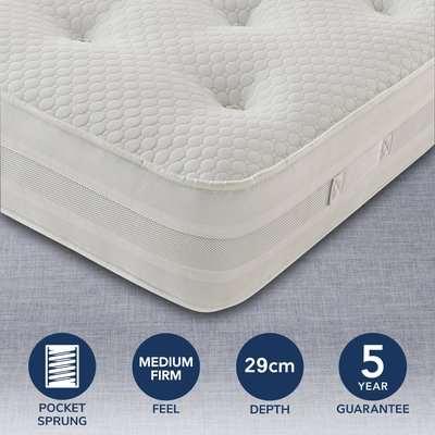 Silentnight Medium Firm 1200 Pocket Mattress White