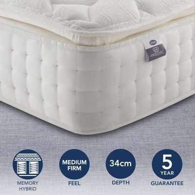 Silentnight Medium Firm 2800 Pocket Memory Pillowtop Mattress White