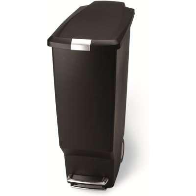 simplehuman 40 Litre Slim Black Recycling Bin Black