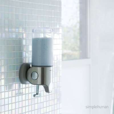 simplehuman Single Shower Soap Pump Steel