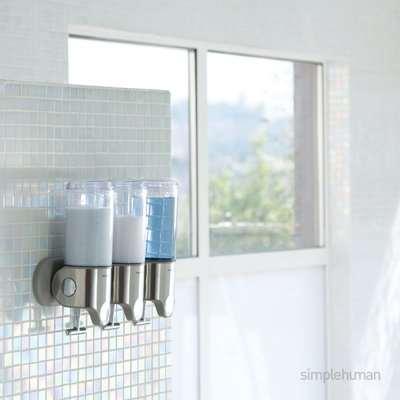 simplehuman Triple Shower Soap Pump Steel