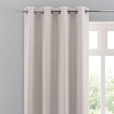 Solar Ivory Blackout Eyelet Curtains Cream
