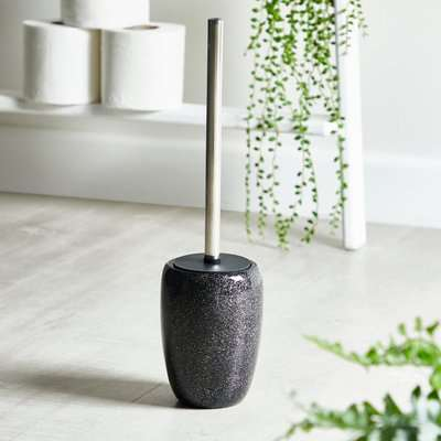 Sparkle Black Resin Toilet Brush Black
