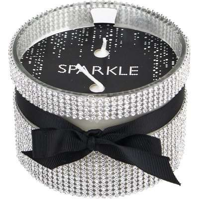 Sparkle Diamante Multiwick Grapefruit and Patchouli Scented Candle Silver